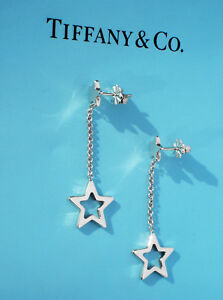9719acaea Image is loading Tiffany-amp-Co-Sterling-Silver-Star-Link-Drop-
