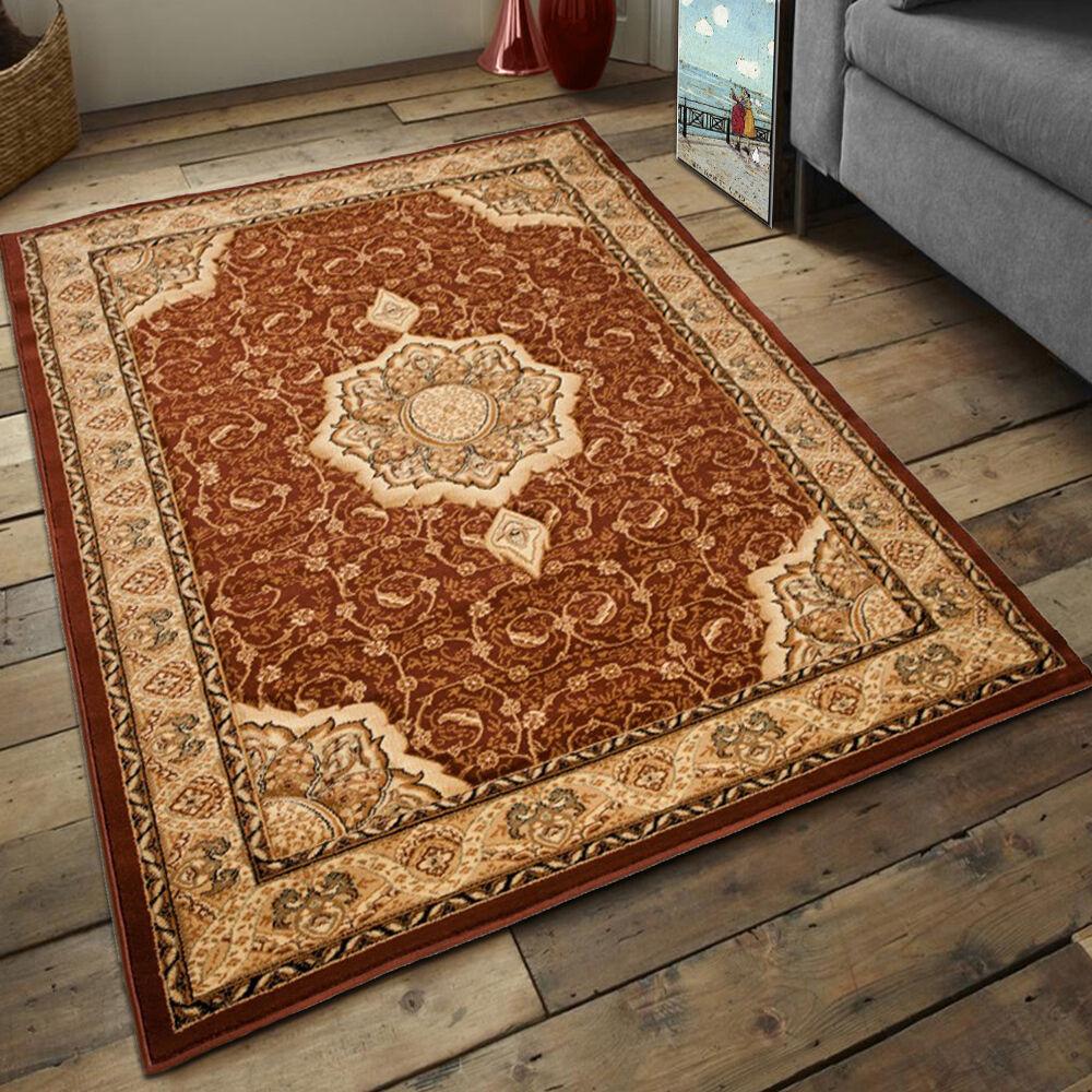 Teppich Klssisch Still Perser Perser Perser Oriental Ornamente in Braun DICHT cbc749