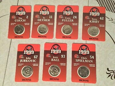 1999 cleveland browns collectible coins