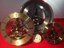 SKELETON CLOCK MOVEMENT/ INSERT.126mm GOLD COLOUR