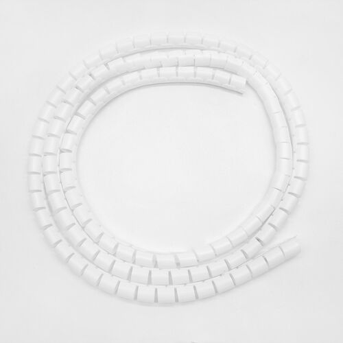 2M Spiral Cable Wrap Tidy Cord Wire Banding Storage Organizer 10mm//25mm Width