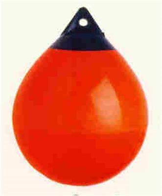 """Polyform A-3 Orange Black Tip 58.5/"""" Round 19/"""" Diameter Buoy Fender 16130"""