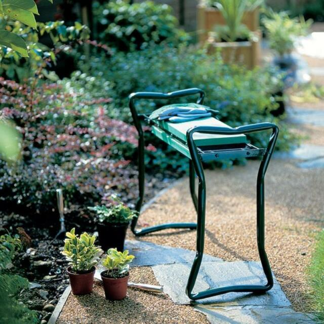 Folding Garden Kneeler Knee Pad Support Seat Bench Ergonomic Garden Tool Green