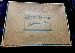 A-G-Spalding-Bros-Baseball-Box-Vintage-1930-Antique-Sports-equipment