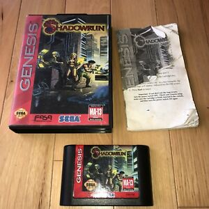 DISCOUNTED-Sega-Genesis-Game-SHADOWRUN-Complete-CIB-Shadow-Run-SAVES-Cyberpunk