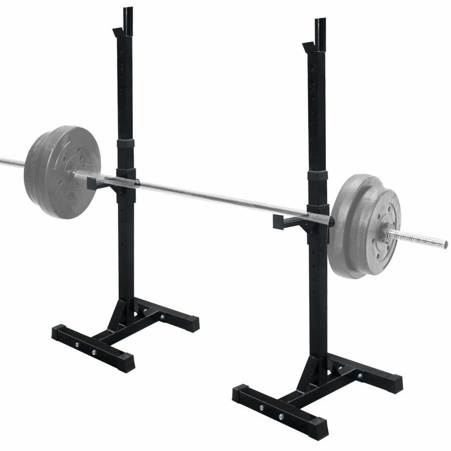 Fully Adjustable SQUAT RACK Stands Crossfit Weight Lifting Bench Press