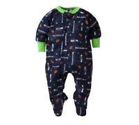 Gerber Toddler Boy Nfl Seattle Seahawks Blanket Full-zip Sleeper 3t Baby Clothes