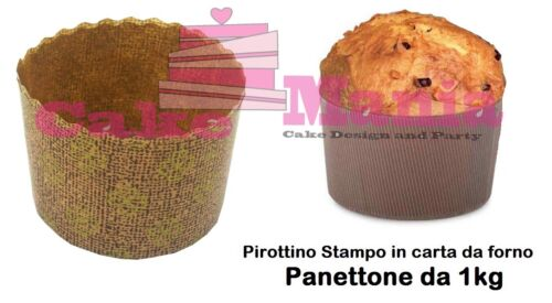 10 Formen Schimmel Panettone aus 1kg Tapete Backofen Pfanne Brioche Weihnachten