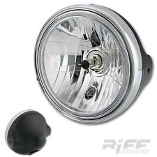 H4 KLAR GLAS SCHEINWERFER BMW R 1150 R / R 850 R MIT CHROMRING CLEAR HEAD LIGHT