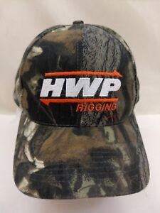 HWP-Rigging-St-Louis-MO-Camo-Embroidered-Baseball-Cap-Hat-Transportation-Company