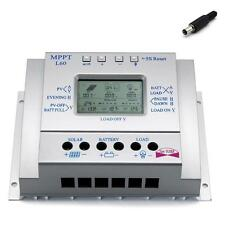 LCD 60A 12V/24V MPPT Solar Panel Regulator Charge Controller 750W/1500W & USB AD