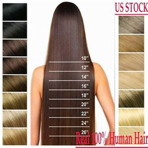 Us Full Head Clip In 100 Remy Human Hair Extensions 15 26