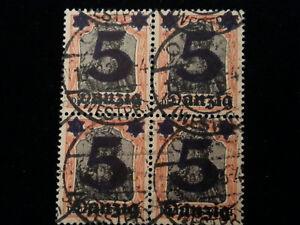 Deutsches-Reich-Freie-Stadt-Danzig-1920-MiNr-16-Aufdruck-der-neuen-Wertstufe