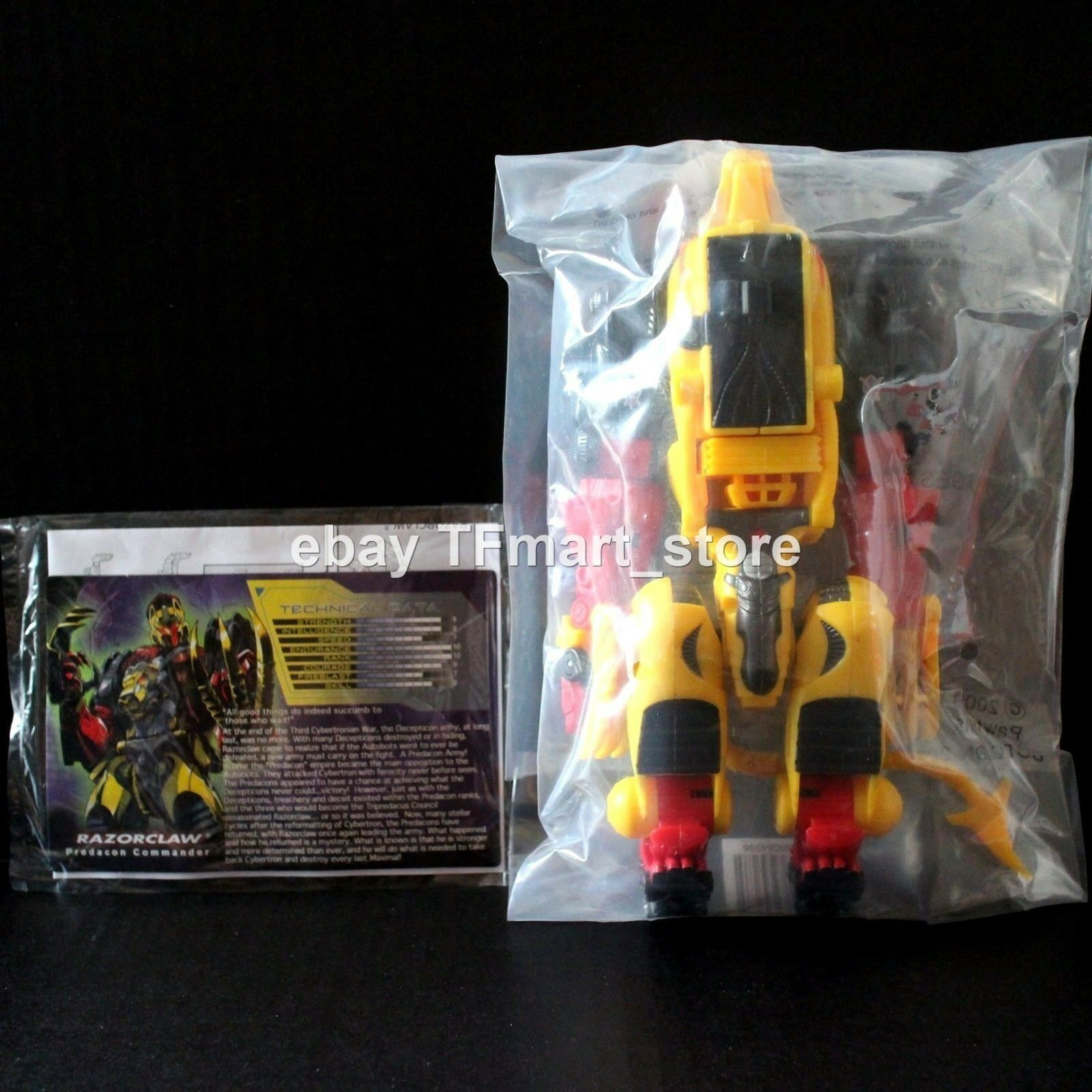 Transformers Botcon 2009 Razorclaw Sealed - Protaking Cybertron Leobreaker Mode