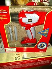Craftsman My First Power Drill with Targeting Laser Light Kids Pretend Playset