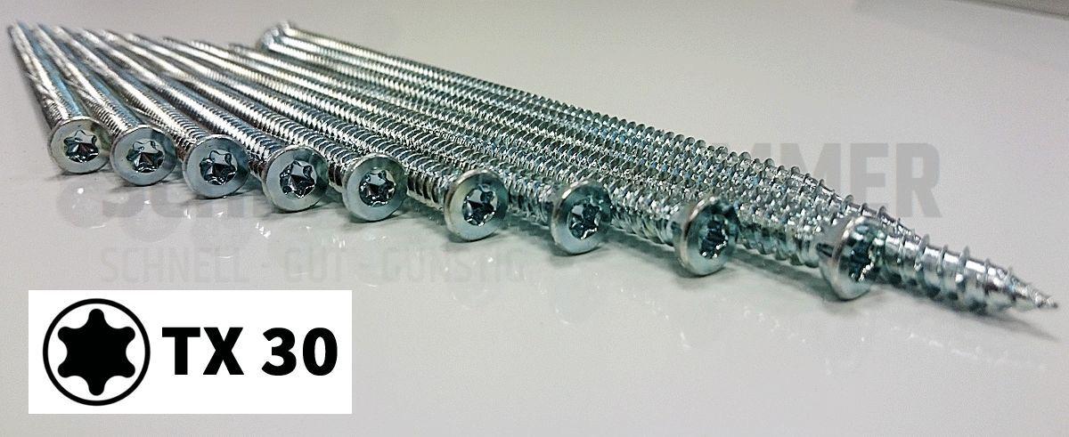 Fensterrahmenschrauben Rahmenschrauben Senkkopf 252mm - 302mm lang    Online Store