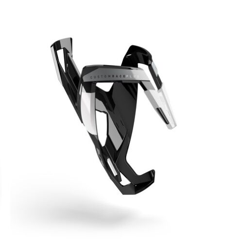 White ELITE Custom Race Plus Bike Bicycle Cycling Water Bottle Cage Holder