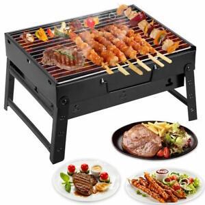Barbecue Portatile Pieghevole.Dettagli Su Mbuynow Barbecue Carbone Portatile Pieghevole Per 3 5 Persone Uten Griglia Ba
