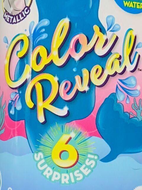 Barbie Color Reveal Chelsea Mermaid Doll with 6 Surprises METALLIC SERIES New