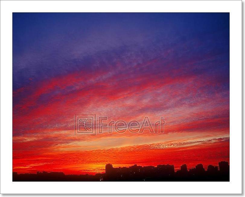 Crimson Sunset. Art Print Home Decor Wall Art Poster - C