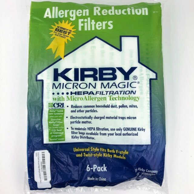 6 Kirby Vacuum Cleaner Micron Magic Bags HEPA Filtration F-style Twist-style