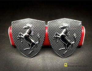 Genuine Ferrari 360 / F430 Carbon Fiber Fender Emblems - Part# 70002230