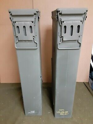 FREE SHIPPING * 2 81MM TALL AMMO CANS PA 157 VERY GOOD CONDITION