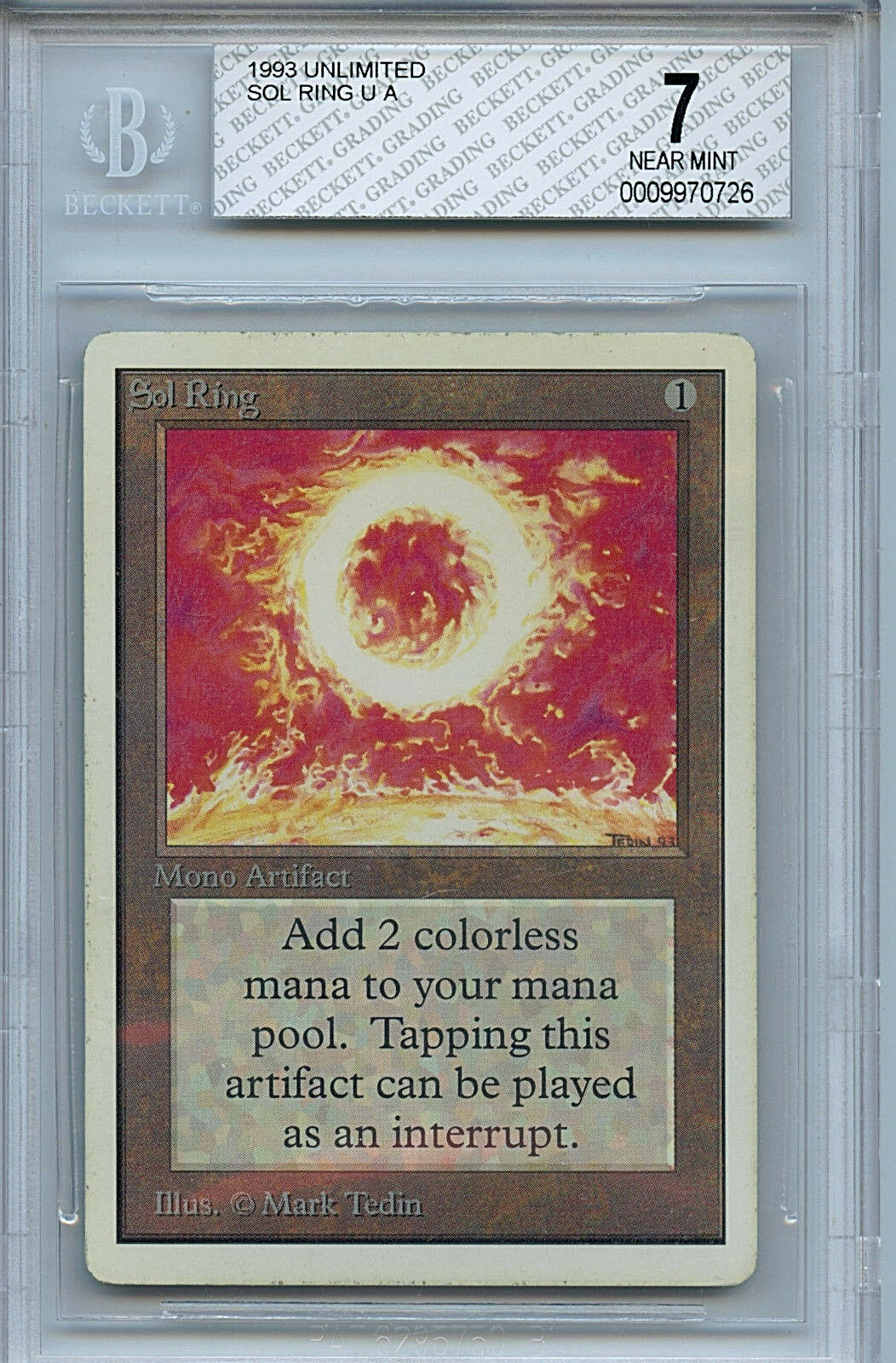 MTG Unlimited Sol Ring BGS 7.0 NM NM NM Card Magic The Gathering WOTC 0726 2b9886