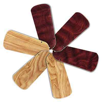 "Replacement Blades for 32-34"" Ceiling Fan 6/pk Reversible Maple/Rosewood_236-B51"