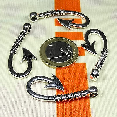 7  Terminales/Enganches 40x16mm T543 Plata Tibetana Clasps Spange Beads Fecho