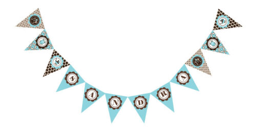 Blue Baby PERSONALIZED Baby Shower Pennant Banner