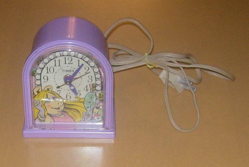 Vintage Muppets Miss Piggy Reloj Timex 1982 funciona