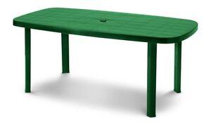 Tavolo-in-Plastica-da-Giardino-Verde-Tavolino-Esterno-Resina-Ovale-177x86-cm