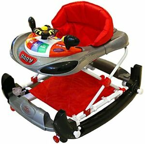 Bebe-Style-F1-Racing-Car-Walker-and-Rocker-Deluxe-GreyRed