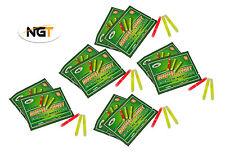 15 NGT (5 Packs of 3) Fishing Night Glow Sticks Chemical Lights 39mm x 4.5mm