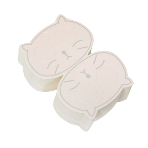 50pcs Hollow Cat Eye Child Hair Clip Hanging Paper Cards for Jewelry Display