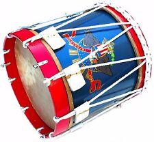 "AMERICAN Civil War Drum 14x14"" Military Heritage Rope Tension Snare Renaissance"