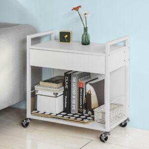 sobuy beistellwagen rollwagen mit schublade k chenwagen servierwagen fkw50 w ebay. Black Bedroom Furniture Sets. Home Design Ideas