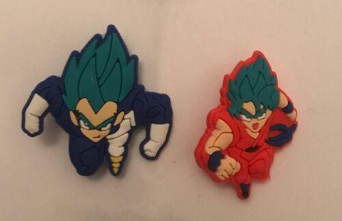 2 DragonBall Z Badges Goku And Vegeta Super Saiyan Gods Blue Hair