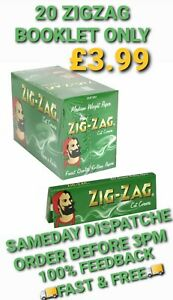 1000-ZIG-ZAG-GREEN-ROLLING-PAPERS-20-BOOKLET-50-PAPER-EACH-BOOKLET-CHEAPEST