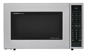 Sharp 1 5 Cu Ft Convection Microwave With Auto Defrost