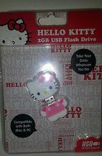 Sanrio Hello Kitty 2GB USB Flash Drive Pink & White Key Chain