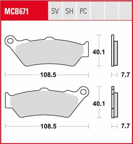 3 X Lucas Bremsbeläge v+h MCB856SV MCB671SH BMW R1200GS Adventure Bj.2013-2018
