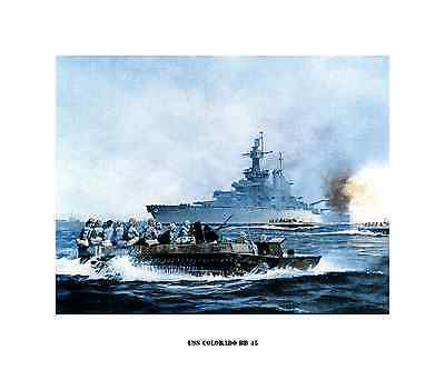 US Naval Battleship Photo Print USS Maryland BB 46 USN Navy
