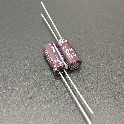 10pcs 1uF 50V 5x11mm SAMXON GS 50V1uF Aluminum Electrolytic capacitor