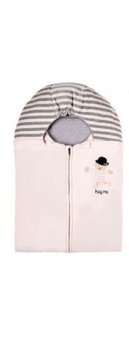 NWT NEW Fendi Baby Girls pink velvet padded foot muff nest sleeping bag
