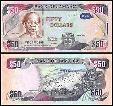 Jamaica 50 Dollars, 2015, P-NEW, UNC