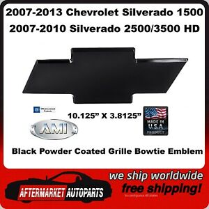07-10 1500 2500 3500 /& 07-13 1500 CHEVY SILVERADO BowTie Emblem BLACK POLISHED
