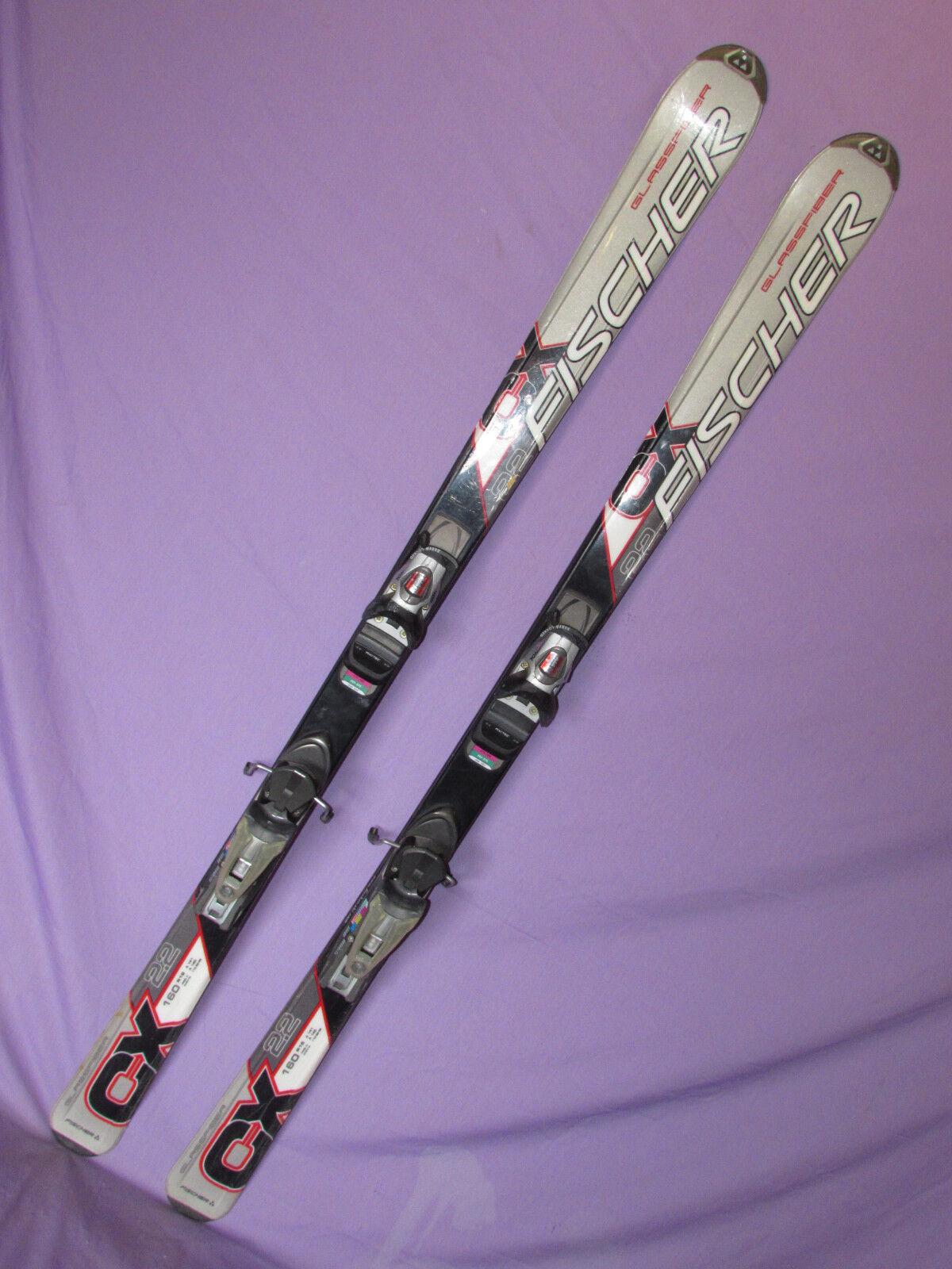Fischer CX 2.2 Glassfiber Ski 160cm mit Rossignol Axium 120 DEMO