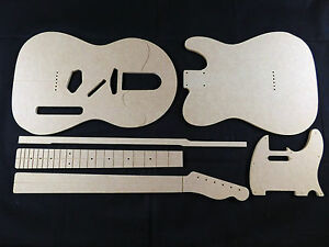 strat neck template - guitar template set telecaster cnc made 100 accurate
